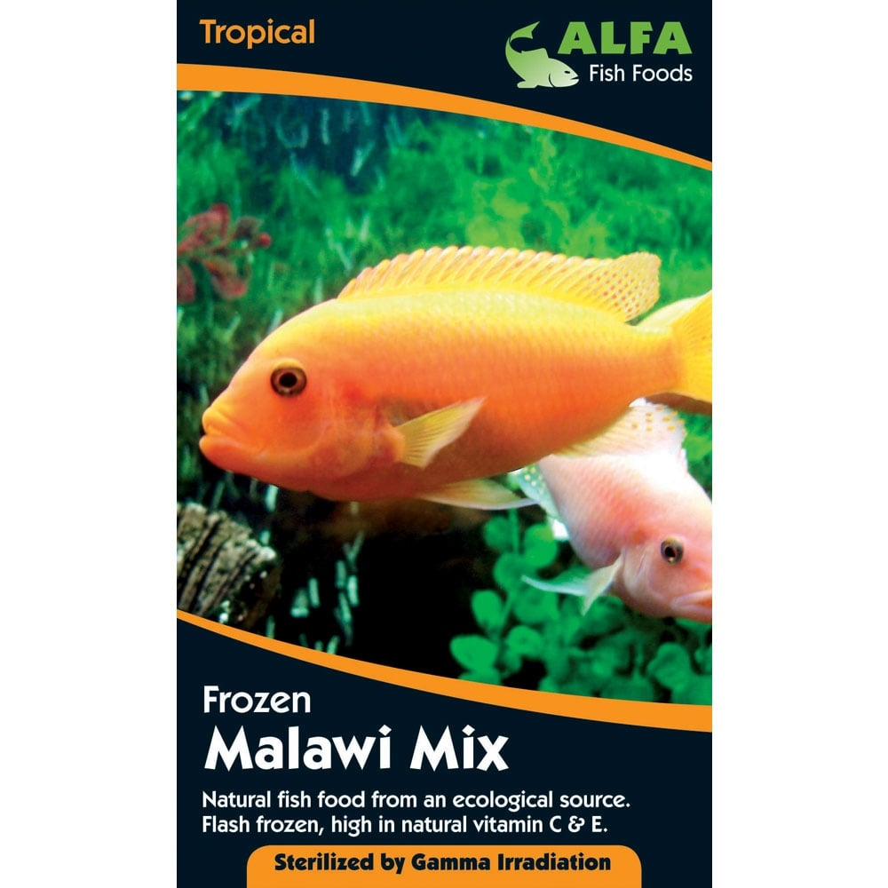Alfa frozen malawi mix blister pack 100g aquarium from for Frozen fish food