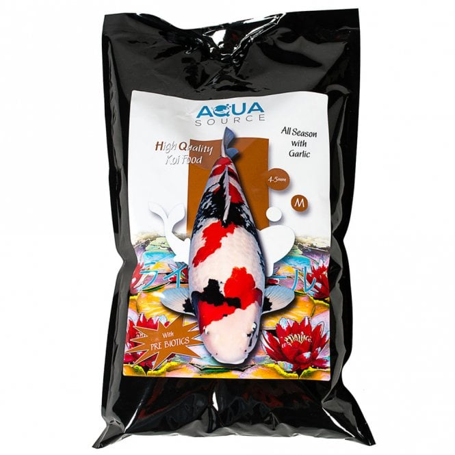 Aqua Source All Season With Garlic Koi Food