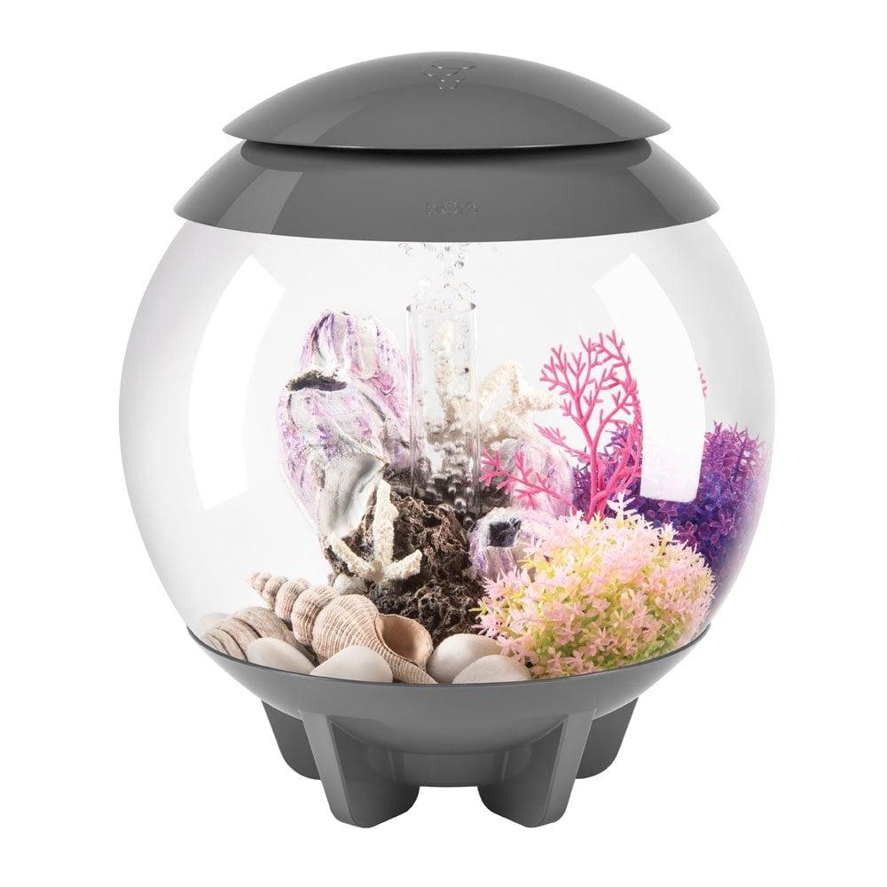 Biorb biorb halo 15 aquarium with mcr grey aquarium for Fish tank vs pond