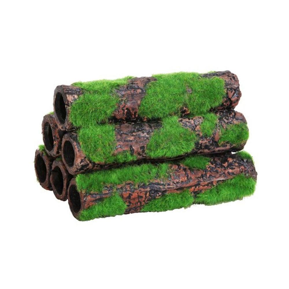 Betta ceramic bamboo 6 small tubes aquarium from pond for Pond decorative accessories