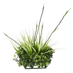 Chi Boxwood and Tall Grass Ornament