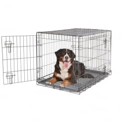 2 Door Black Wire Home Dog Crate