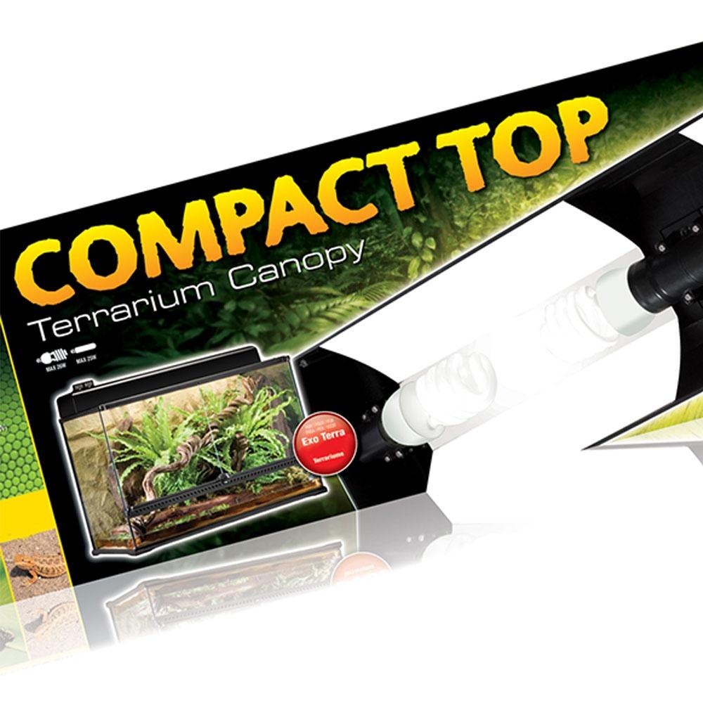 Exo Terra Compact Top Terrarium Canopies Exo Terra From
