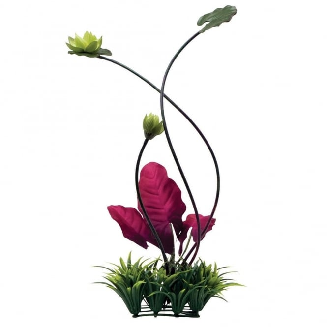 Chi Lily Pad & Plant Grass Ornament