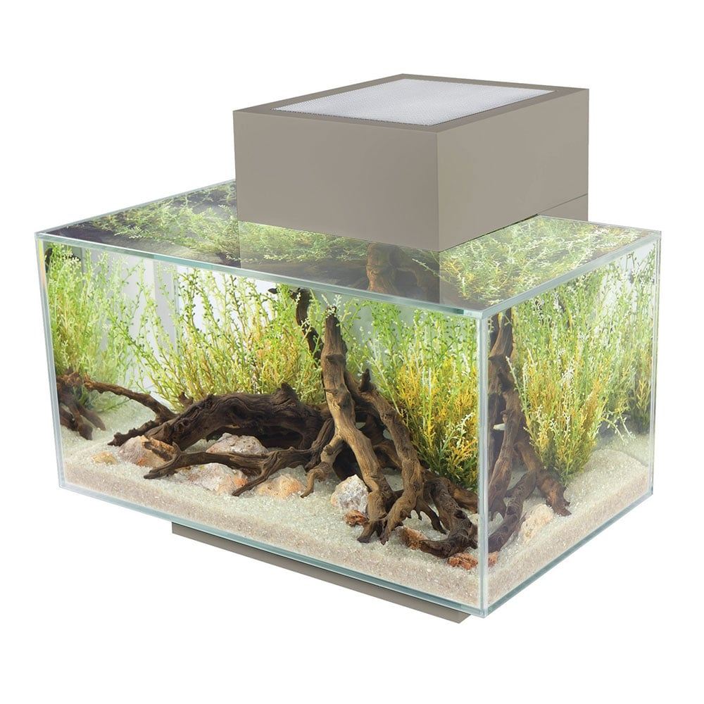 fluval edge 23l aquarium set pewter fluval from pond planet ltd uk. Black Bedroom Furniture Sets. Home Design Ideas