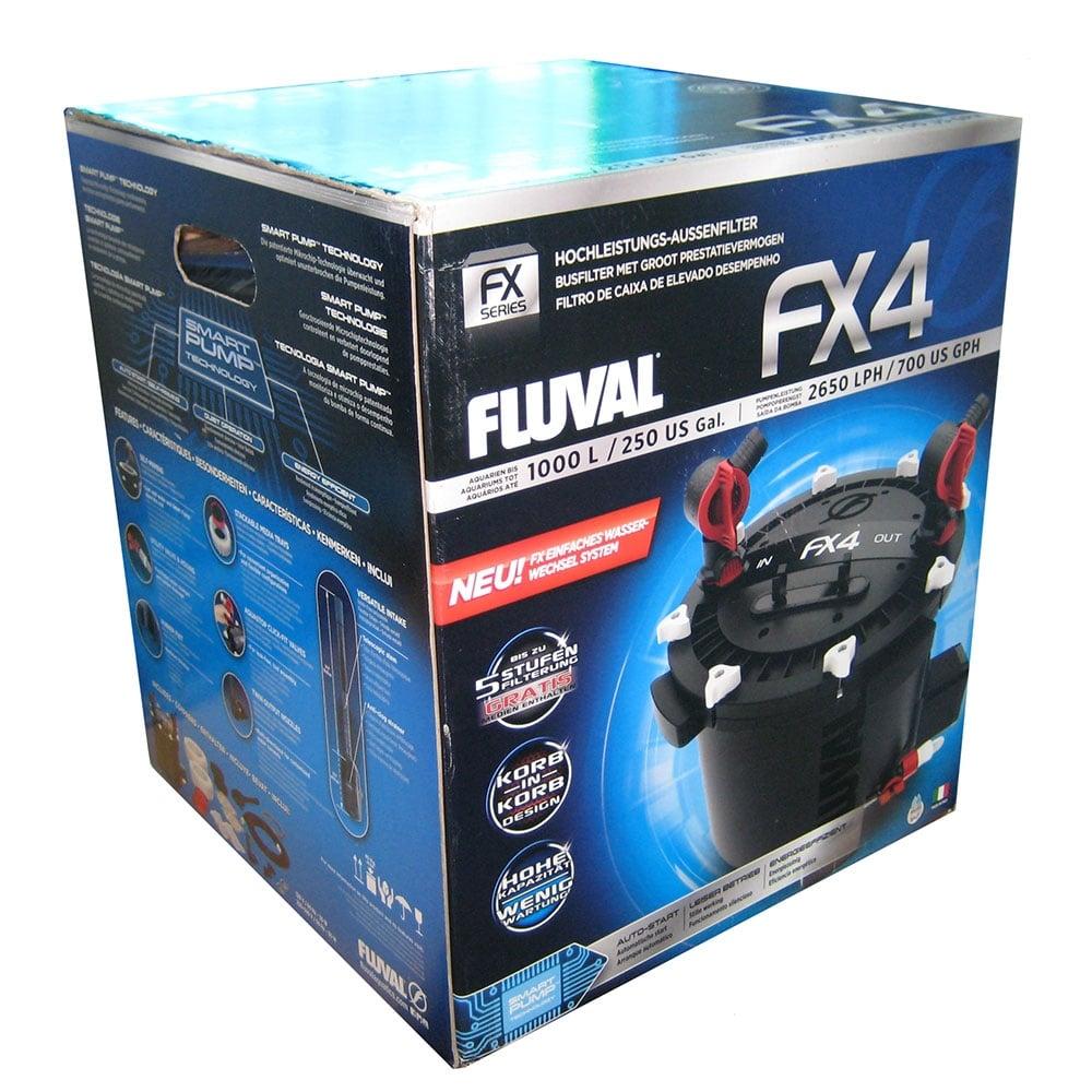 Fluval fx4 external filter fluval fx4 manual pond planet for Filtration aquarium