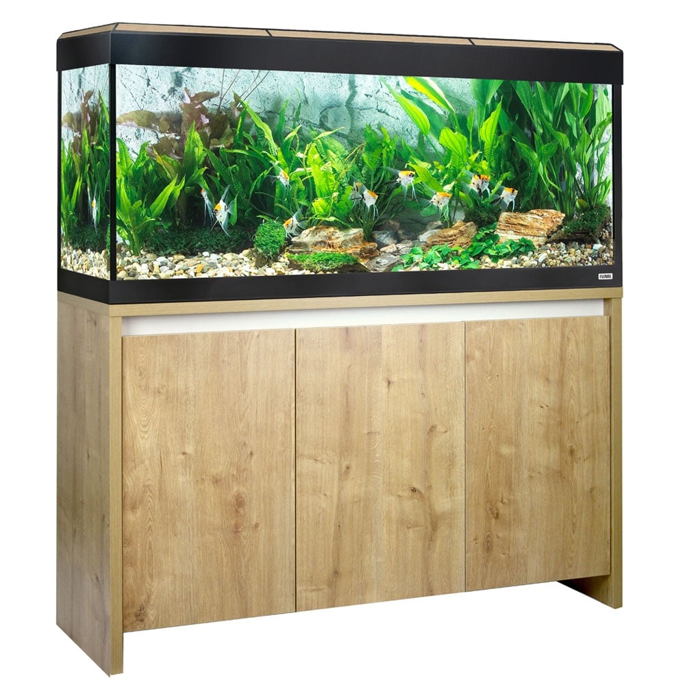 Fluval roma 240 aquarium fish tank - Fluval Roma 240 Led Aquarium Cabinet Set Oak