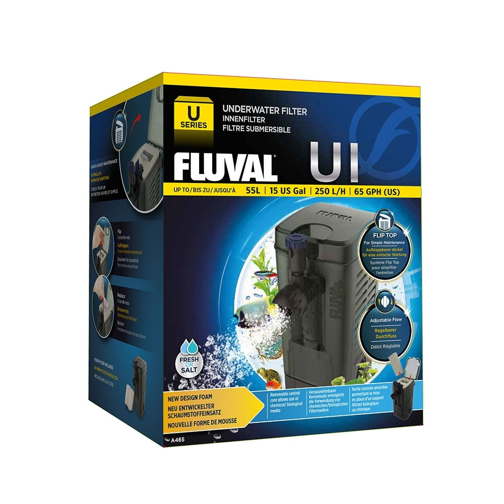 Fluval u1 underwater filter 250lph fluval from pond for Underwater pond filter