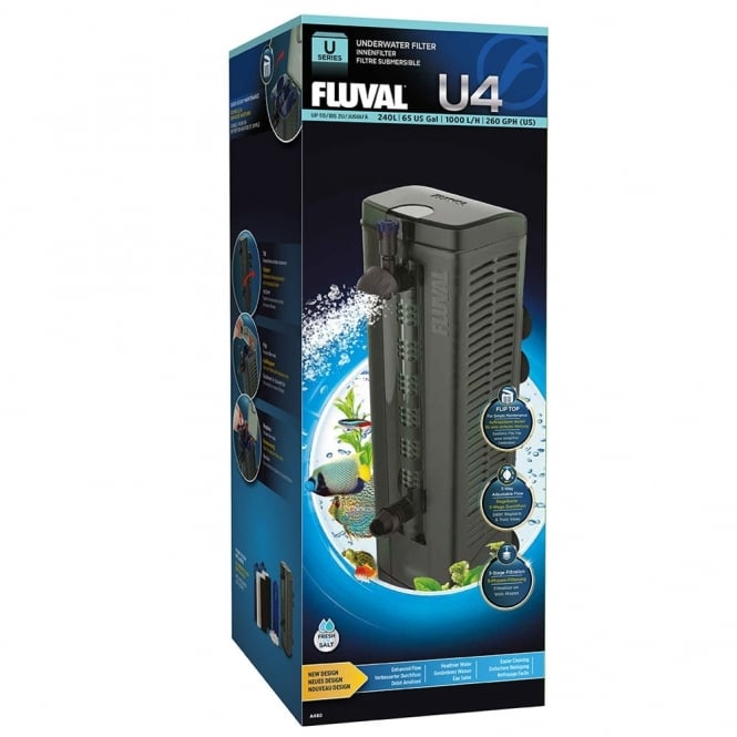 Fluval u4 underwater filter 1000lph fluval from pond for Underwater pond filter