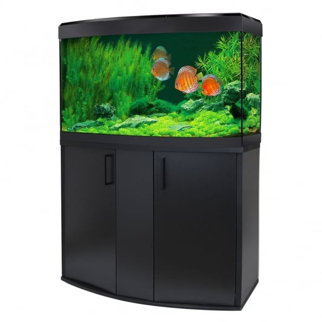 Vicenza 180 LED Aquarium & Cabinet Set - Black