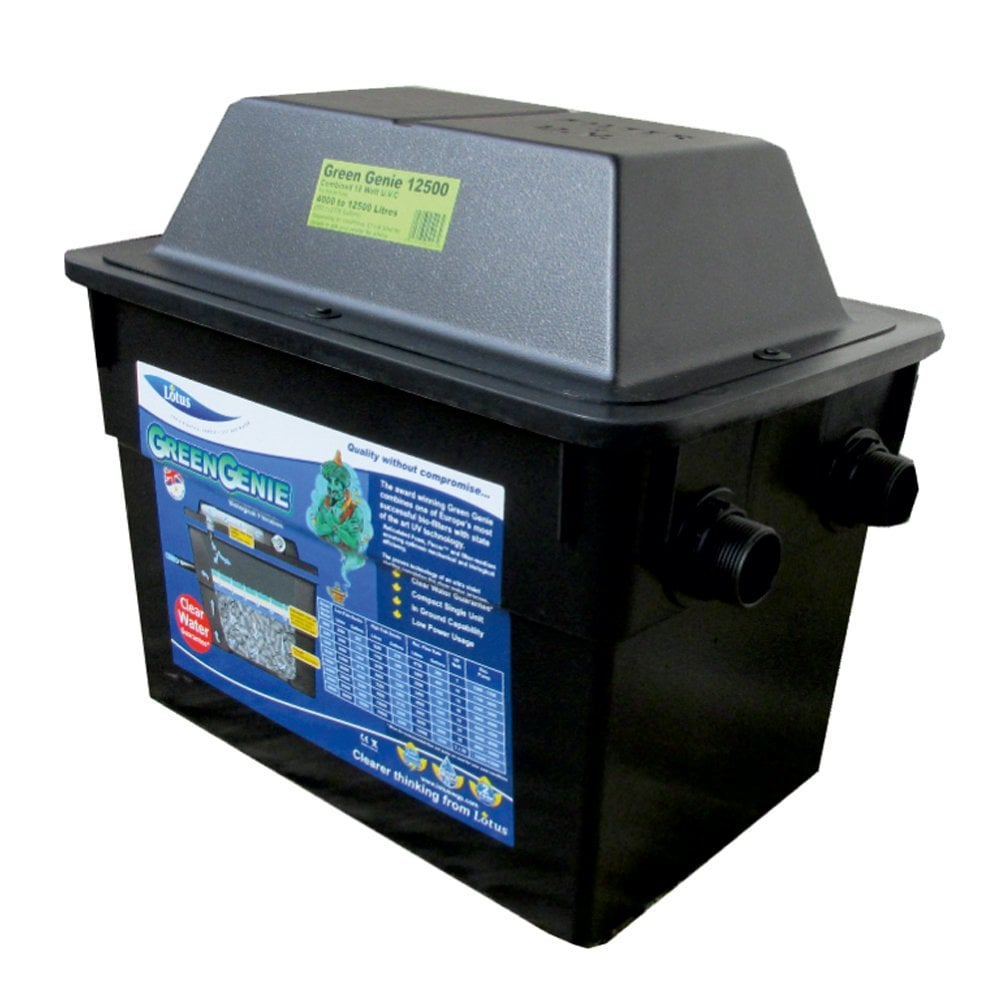 Lotus green genie 12500 pond filter pond from pond for Pond equipment for sale