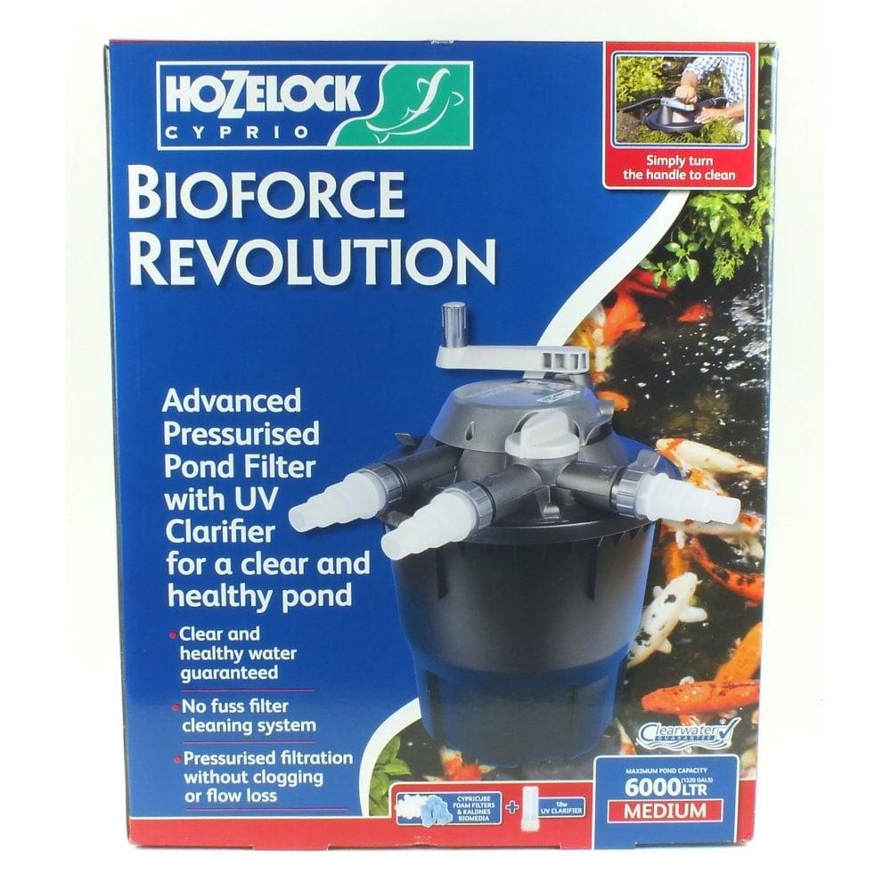 Hozelock bioforce revolution 6000 pond filter hozelock for Hozelock pond filter