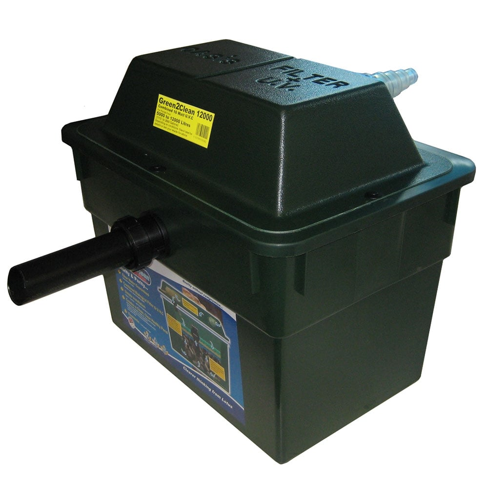 Lotus green 2 clean 12000 pond filter pond from pond for Pond filter cleaning maintenance