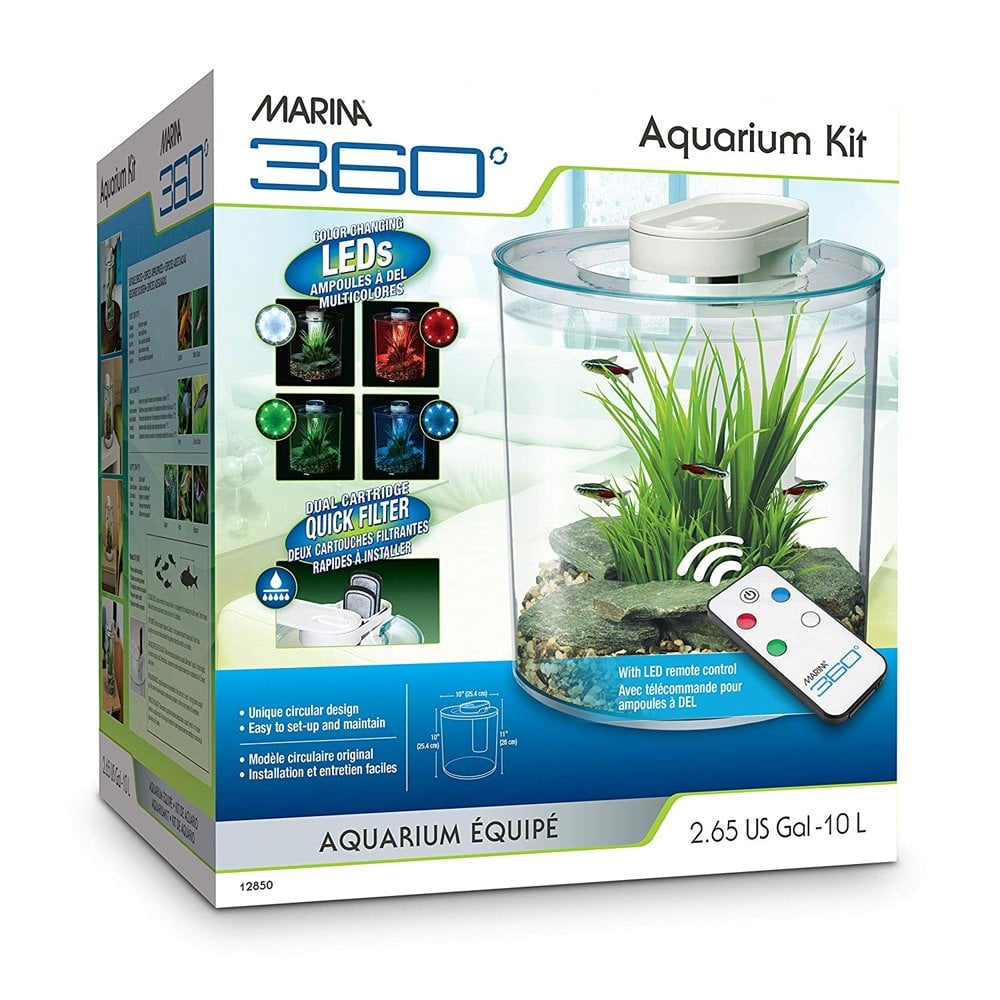 Marina 360 aquarium 10l marina from pond planet ltd uk for Fish tank aquarium