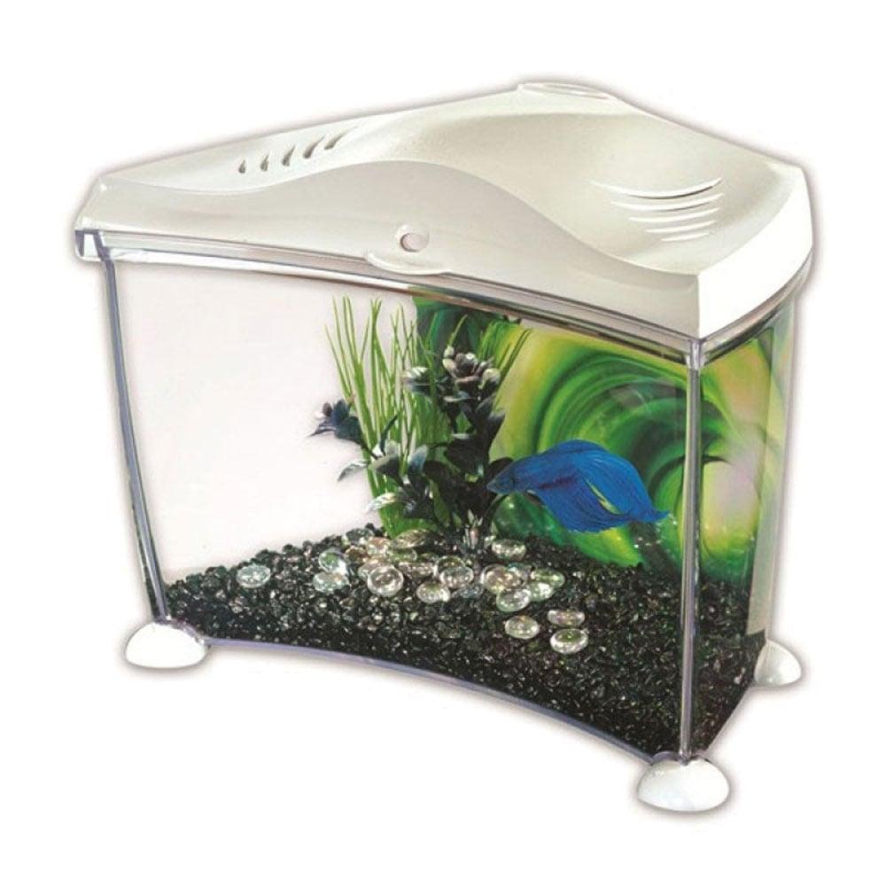 Marina marina betta kit white 7l aquarium from pond for Fish tank equipment