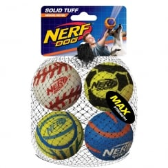 Mega Strength 2.5inch Sports Balls (4pk)