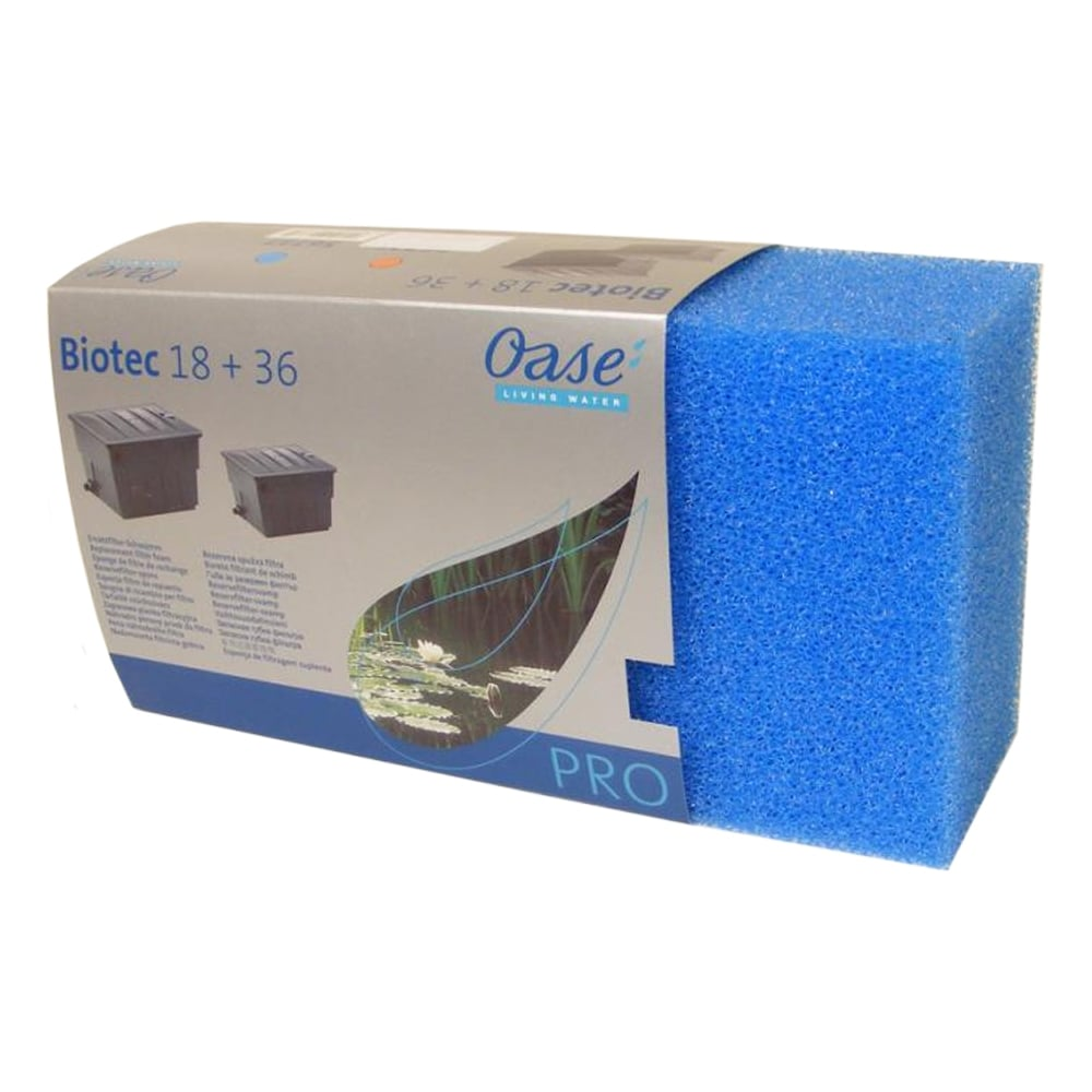 Oase biotec 18 36 replacement foams oase from pond for Pond replacement filters