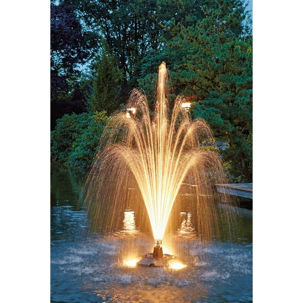 Oase pond jet eco floating fountain oase from pond for Pond with fountain