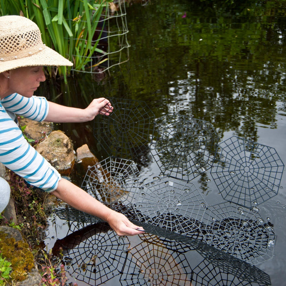 Pondguard pond and fish protection rings from pond for Koi pond protection