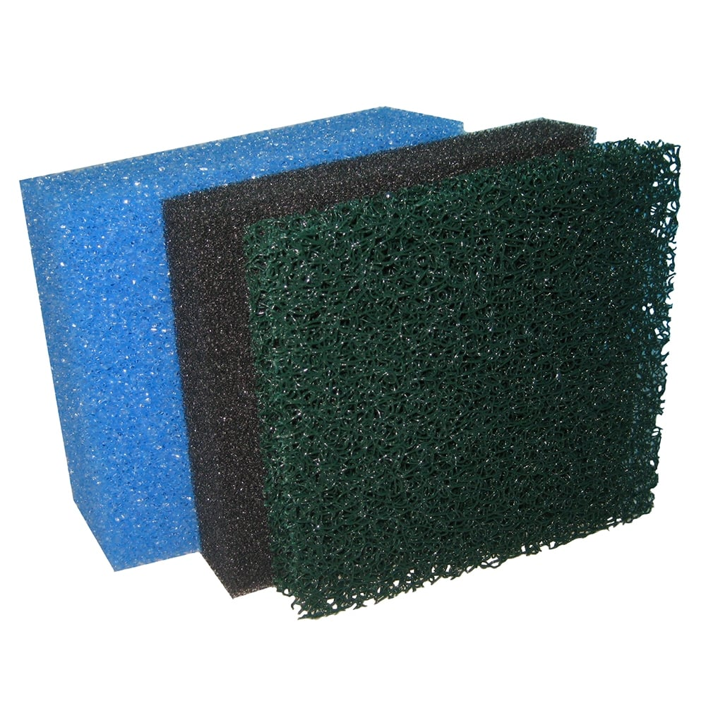 Pontec multiclear replacement foam sets pontec from pond for Pond filter foam which way up