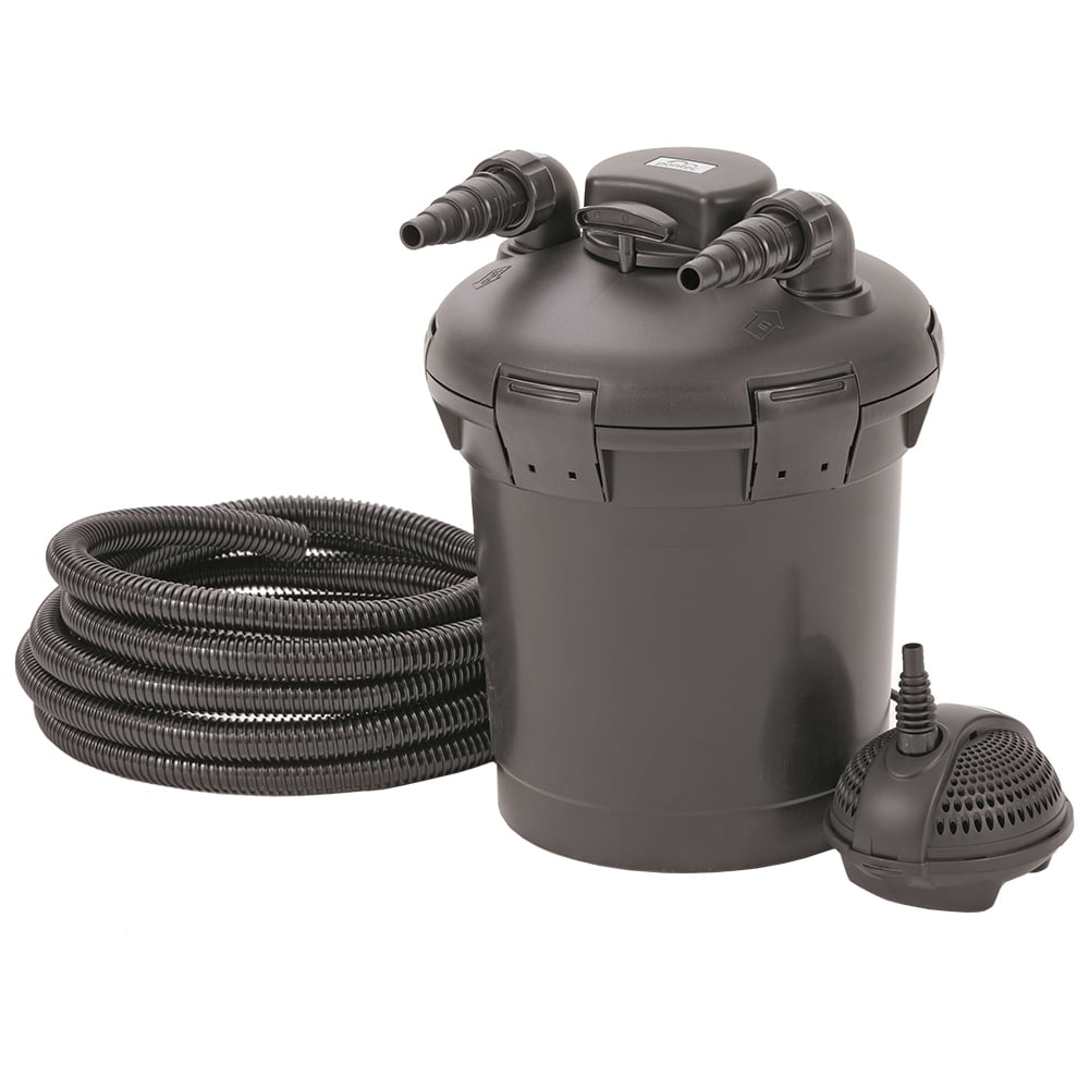Pontec pontec pondopress 10000 pond filter set pond from for Pond without filter