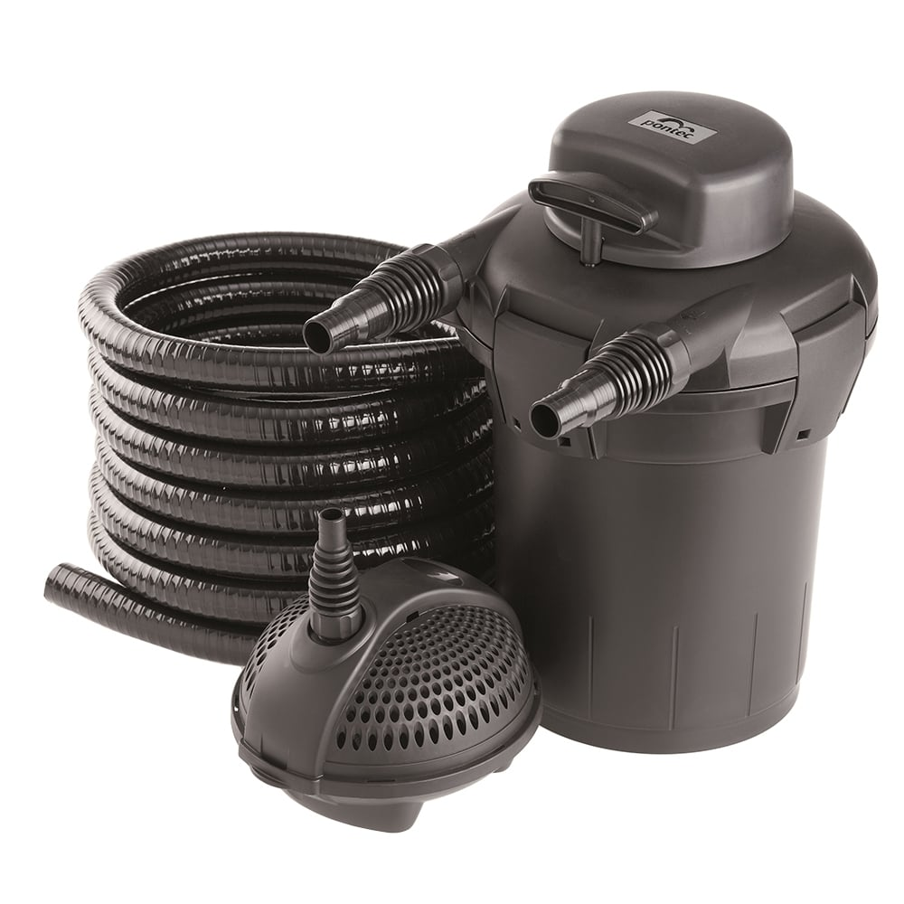 Pontec pontec pondopress 5000 pond filter set pond from for Pond pump filter