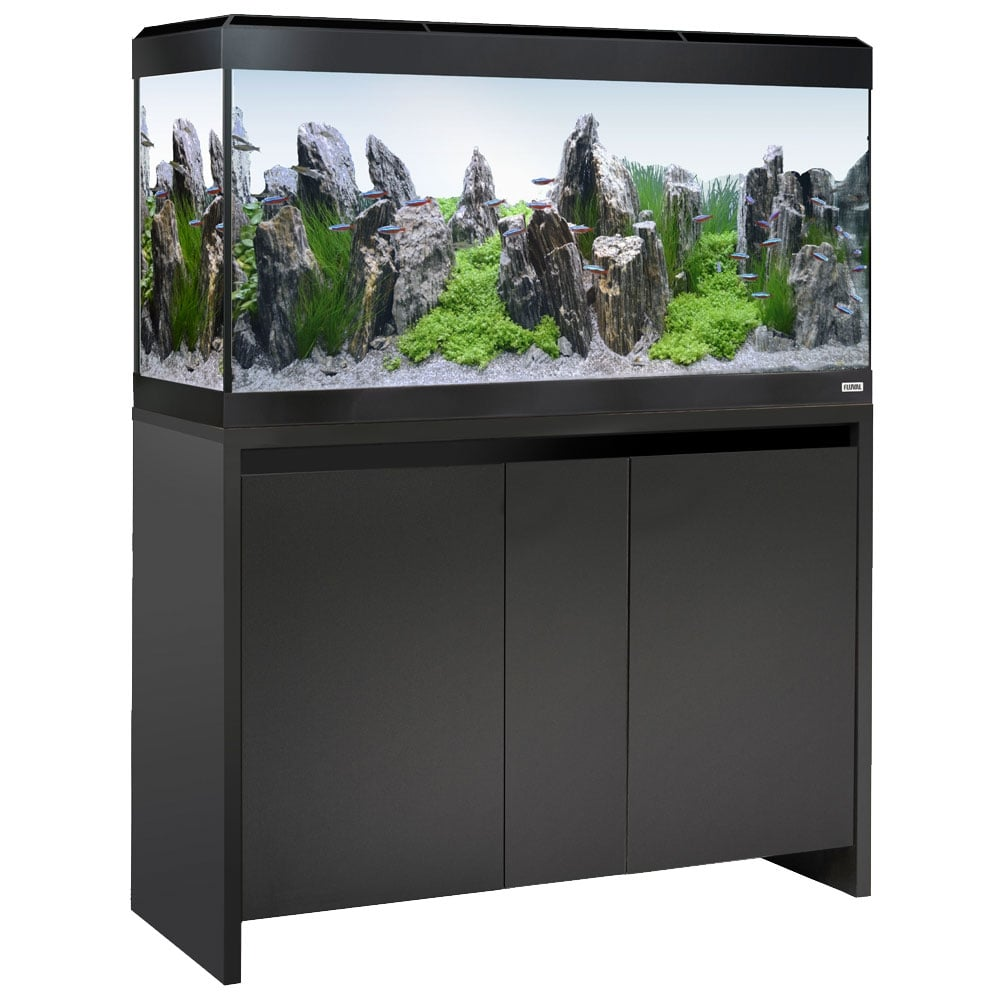 fluval roma 200 led aquarium cabinet set black aquarium from pond planet ltd uk. Black Bedroom Furniture Sets. Home Design Ideas