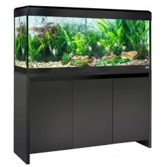 Roma 240 LED Aquarium & Cabinet Set - Black