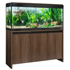 Roma 240 LED Aquarium & Cabinet Set - Walnut