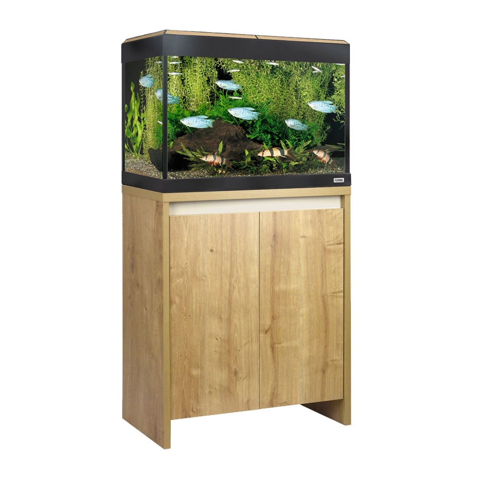 fluval roma 90 led aquarium cabinet set oak aquarium from pond planet ltd uk. Black Bedroom Furniture Sets. Home Design Ideas