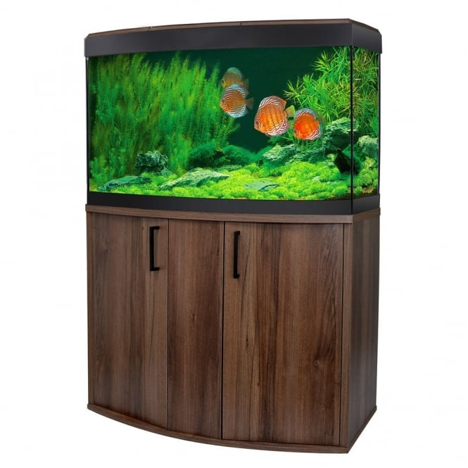 Vicenza 180 LED Aquarium & Cabinet Set - Walnut